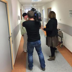 Reportéři České televize natáčeli v Sanatoriu JIH